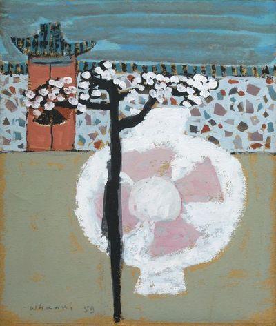 (Korea) by Whanki Kim (1913- 1974). Oil on canvas.  김환기