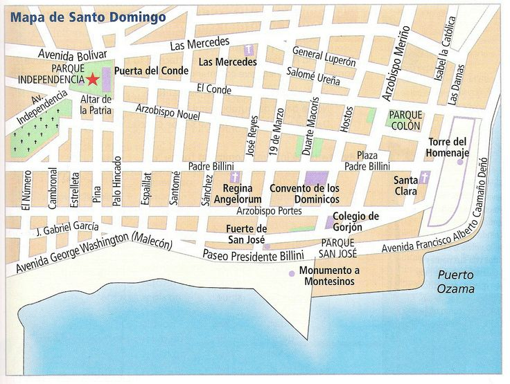 Mapa de Santo Domingo: Map Of