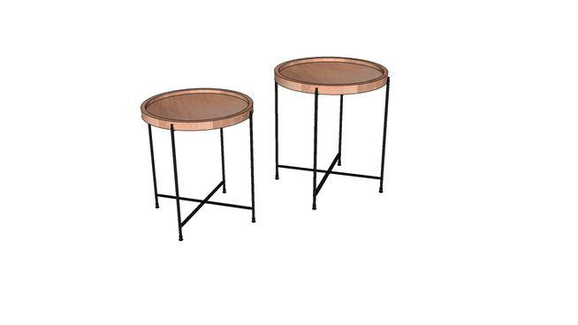 KARE 78218 Side Table Slim Line Quattro (2/Set) (Beistelltisch Slim Line Quattro (2/Set)) - 3D Warehouse