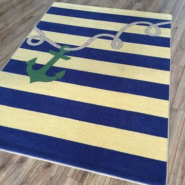 High Quality Rope & Anchor MNT Nautical Rug Shapes Sizes