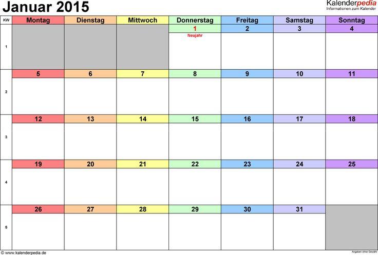Praktische, vielseitige Monatskalender als Vorlagen im Microsoft Excel-Format zum kostenlosen Download und Ausdrucken, mit farblich markierten bundesweiten Feiertagen und Kalenderwochen, in verschiedenen Ausführungen, hochkant und quer. Zur Verwendung als Monats-/Wochenplaner für zu Hause oder das Büro, für die Terminplanung, als Tageskalender, Agenda, Timer, Termin-/Arbeits-/Schicht-/Notiz-/Familien-/Urlaubs-/Reise-/Ferien-/Schul-/Veranstaltungsplaner/-kalender ...
