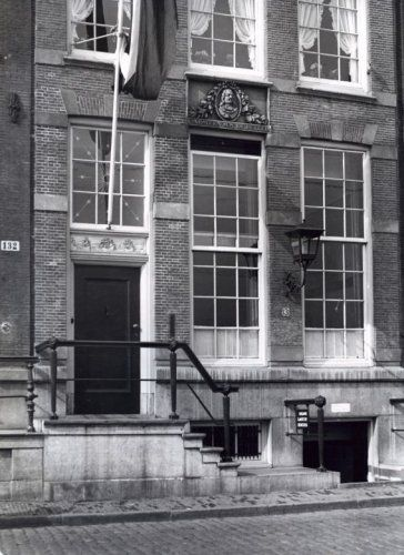 1950's. House of Michiel Adriaansz de Ruyter at the Prins Hendrikkade 131 in Amsterdam. Michiel Adriaenszoon de Ruyter was a Dutch admiral. He is the most famous and one of the most skilled admirals in Dutch history, most famous for his role in the Anglo-Dutch Wars of the 17th century.