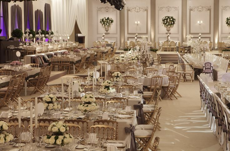 Luxurious ballroom decoration