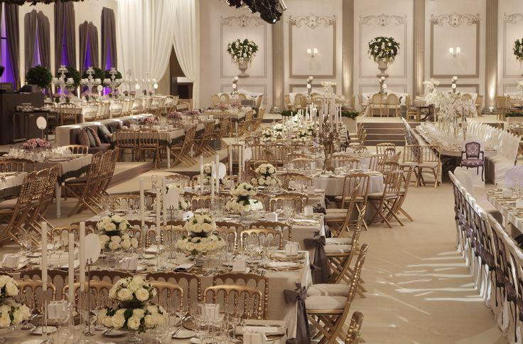 Luxurious ballroom decoration