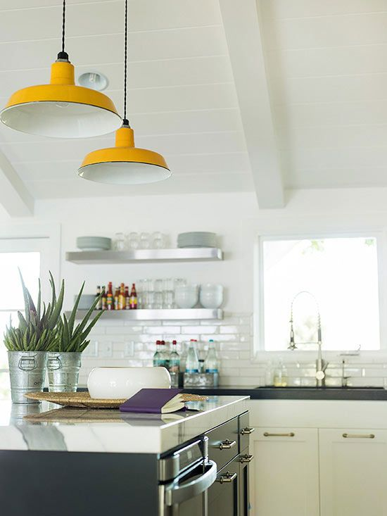 Colorful Pendants - love the yellow