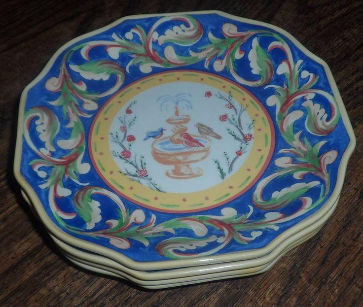 Pfaltzgraff Villa Della Luna Accent Salad Plates - Nearly impossible to find. STUNNING! & 89 best Pfaltzgraff Villa Della Luna images on Pinterest | Mansions ...