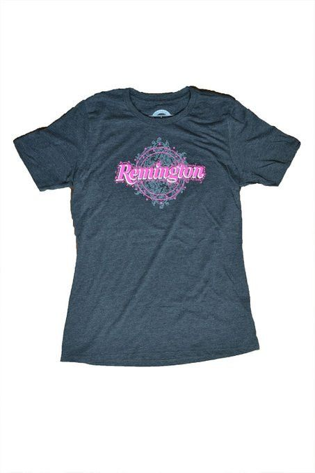 Remington Women's Filigree Logo T-shirt Charcoal Heather