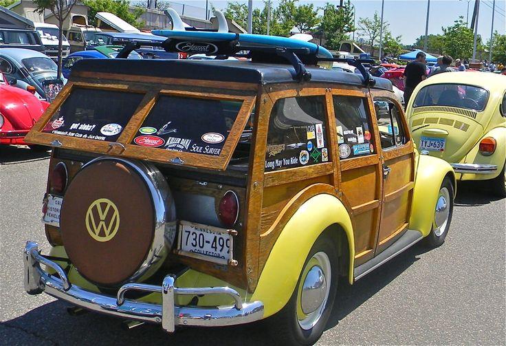 My '65 Beetle woodie at a vintage VW show, June 2011.