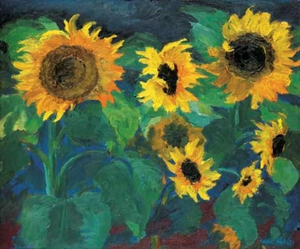 Sunflower image I by Emile Nolde (1867-1956, Germany)Emile Nolde (German~Danish 1867~1956) | He was one of the first Expressionists, a member of Die Brücke.Artist Emile NoldeFosterginger.Pinterest.ComMore Pins Like This One At FOSTERGINGER @ PINTEREST No Pin Limitsでこのようなピンがいっぱいになるピンの限界