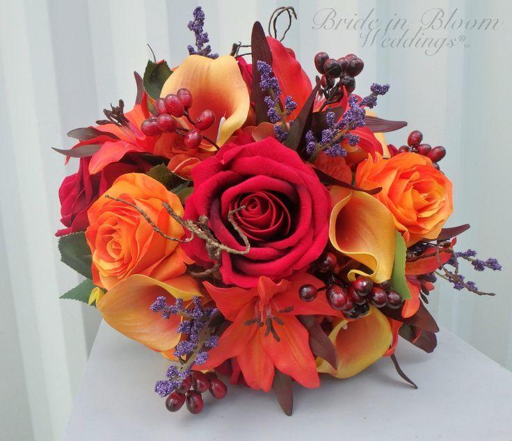 Herfst bruiloft boeket  herfst bruiloft bloemen  bruid boeket  bruidsmeisje boek…