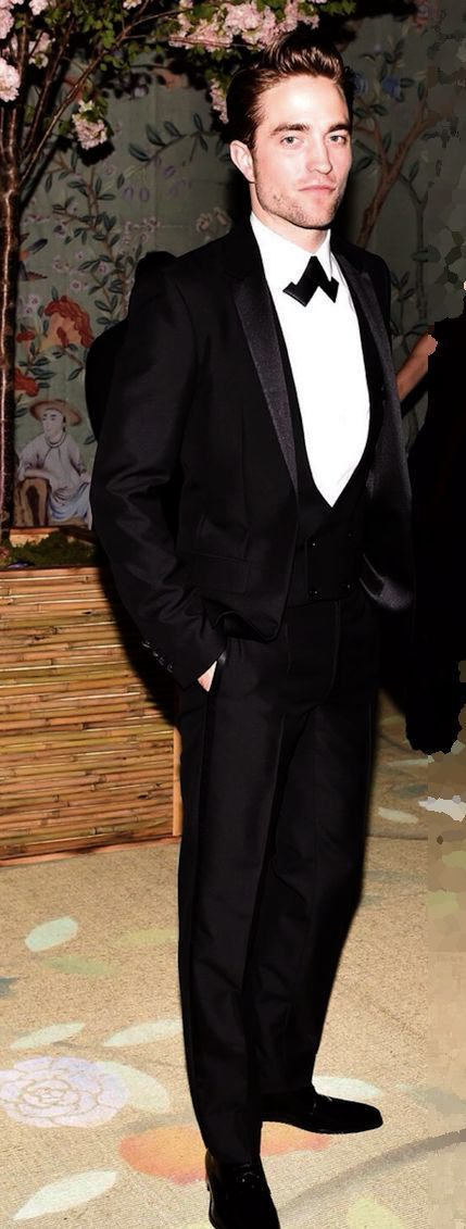"""Robert Pattinson wearing Dior Homme Tuxedo at the Met Gala, 2015....thank you , Rob - for the choice of """"cravate """"...:)"""