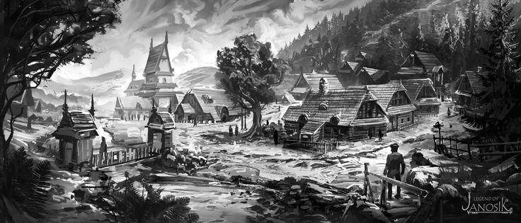 ArtStation - Illustrations done for LEGEND OF JANOSIK game., Gabriel Nagypál