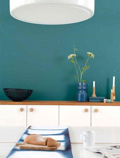 Interieur Kleur van het Jaar 2014: Teal! Flexa Trend Kleur 2014, Kleur Teal: Mix van Groen & Blauw – Flexa Muurverf Teal in de keuken - Meer Kleur…. (Foto Flexa ColourFutures  op DroomHome.nl)