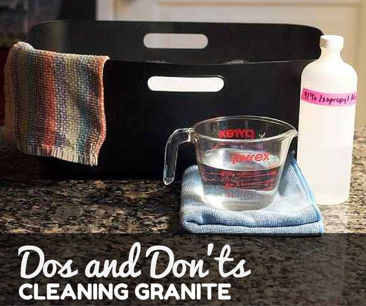 Dos and Dont's on Cleaning Granite ♥ Loved and pinned by www.landmark-granite.com