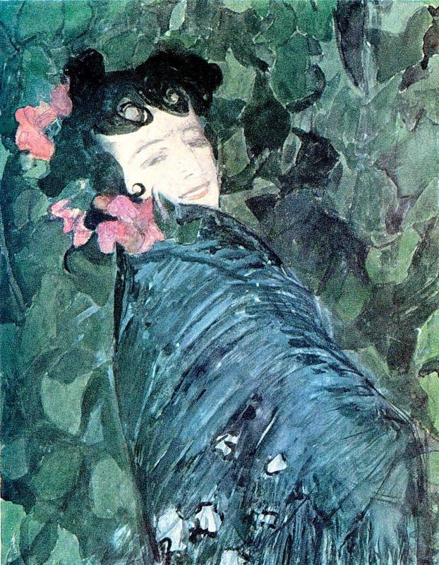 Aleksandr Golovin (Russian, 1863-1930) - Spanish Woman / Александр Головин - Испанка