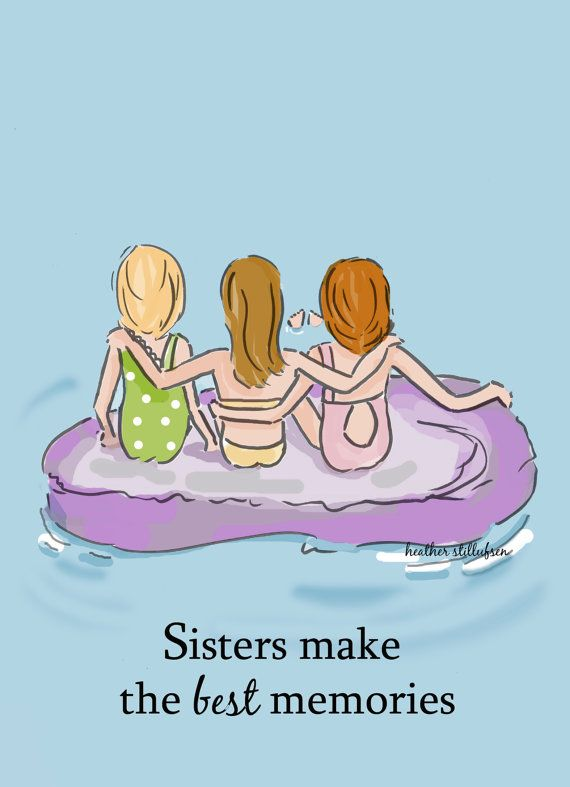 Sister Room Art  Sisters Make the Best by RoseHillDesignStudio