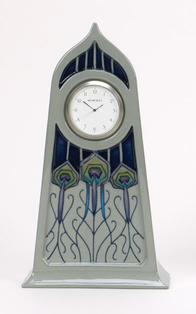 Moorcroft Peacock Parade Clock