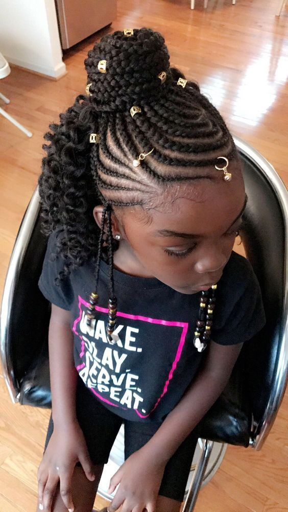 Pin By Latasha Mcphaul Garrett On Tiana S Hairstyle Kids Braided