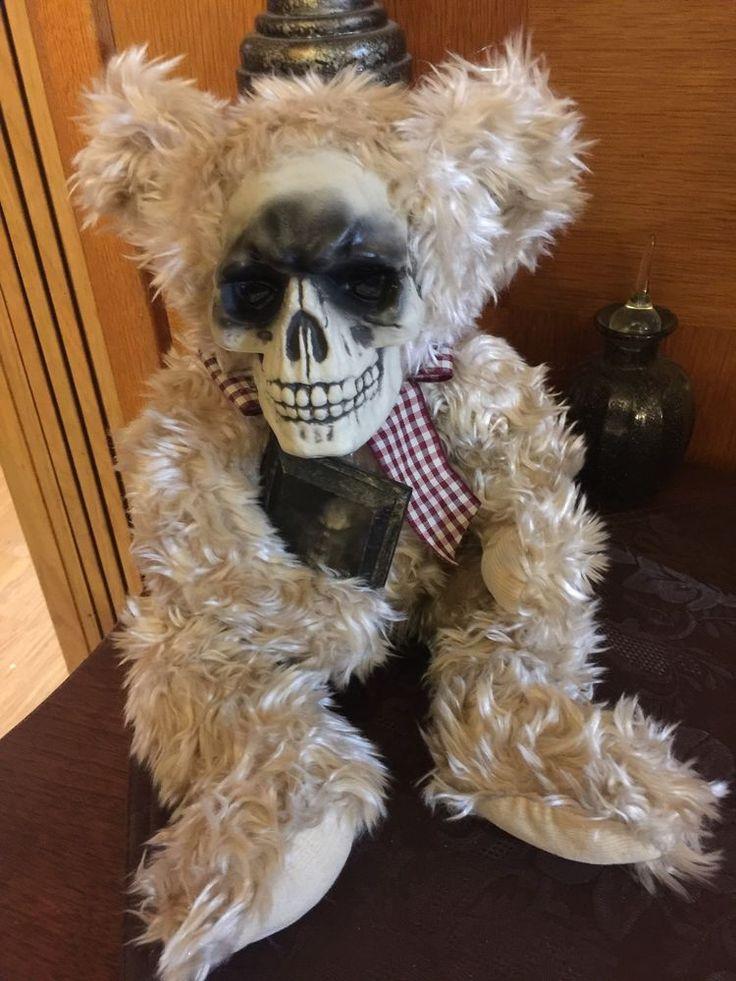 Spooky Doll Creepy Doll OOAK Horror Gothic Scary Dead Haunted Teddy Bear   eBay