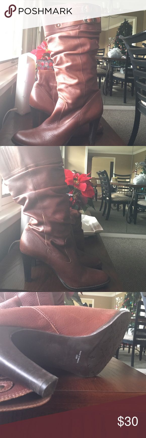 Mattise brown pull on boots Gently used brown dress boots. Really cute and comfy! Shoes Heeled Boots