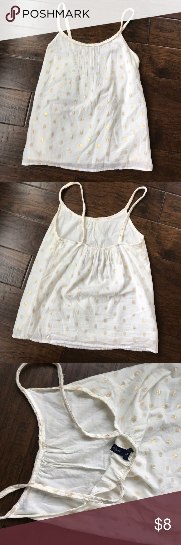 GAP outlet hold dot tank top. Gold dot tank top from gap factory. Only worn once. Extremely cute. GAP Tops Tank Tops