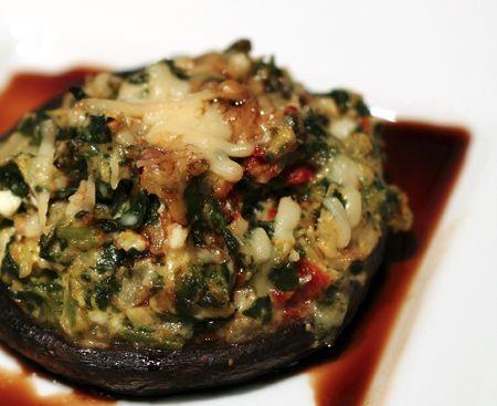 Stuffed Portobello with Balsamic Reduction~ nice vegetarian main dish. :o)
