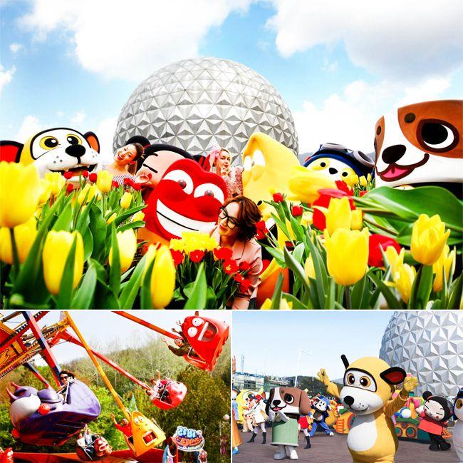 SeoulLand Festival Karakter musim semi membawa kebahagiaan dari tanggal 21 Maret 2015