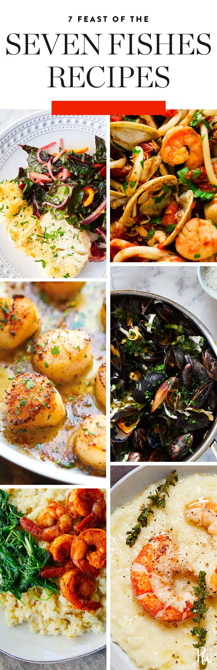 This year, try out a (delicious) Italian tradition: the Feast of the Seven Fishes. Presenting seven of our favorite seafood dishes to make. #sevenfished #holidayrecipes #holidayrentrees #7fishes #christmasrecipes #fishrecipes