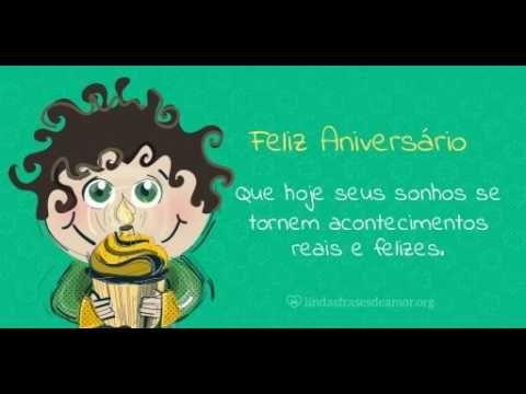 Feliz Aniversario - Menino Verde