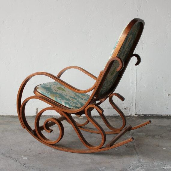 Beautiful Antique Authetic Thonet Bentwood By Onemanstrashlasvegas, $899.99  · Rocking Chair