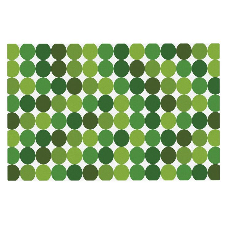 "KESS Original ""Noblefur Green"" Dots Decorative Door Mat"