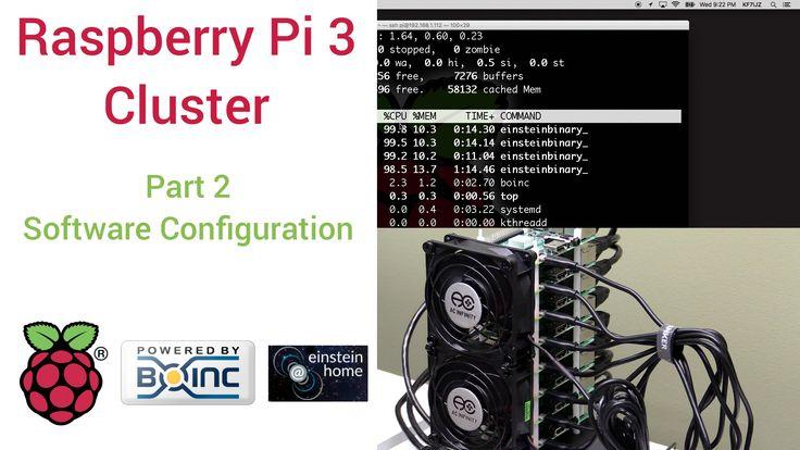 Raspberry Pi 3 Super Computing Cluster Part 2 - Software Config