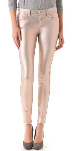 7 For All Mankind coated skinny jeans in Liquid Metallic $198, get it here: http://rstyle.me/iyhynrmtu6