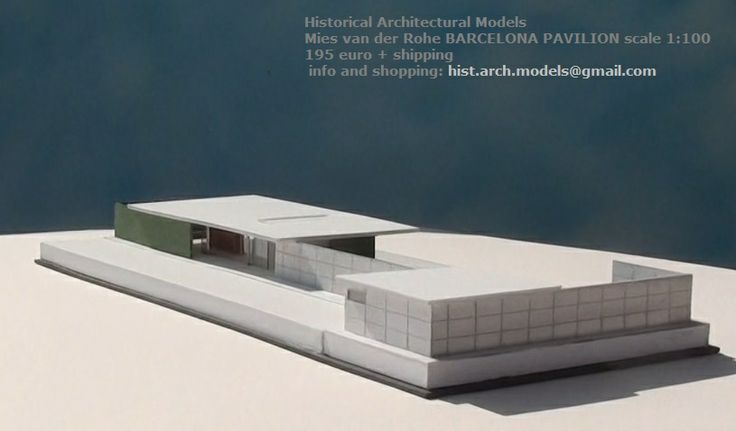 BARCELONA PAVILION by Mies van der Rohe architectural scale model 1:100