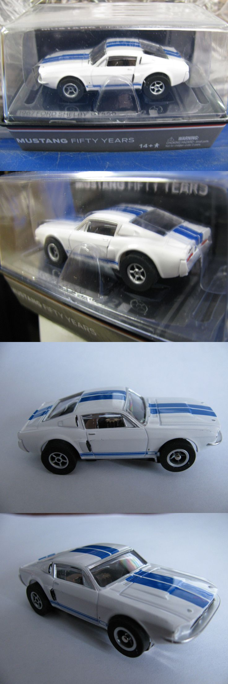 1970 now 2619 aw afx 50 year white blue stripe ford shelby gt new