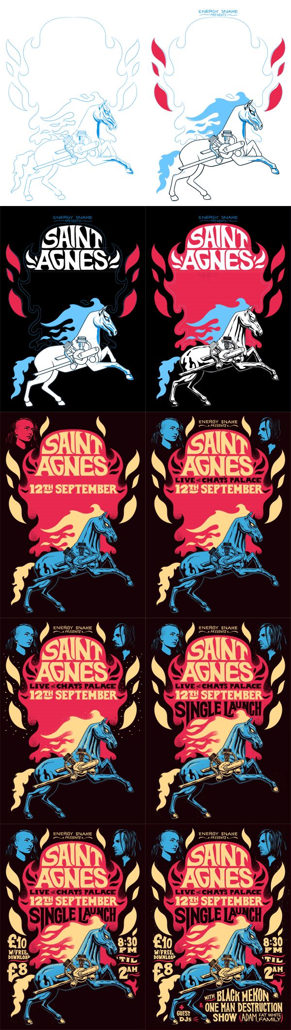 Saint Agnes Poster by Ian Jepson, via Behance