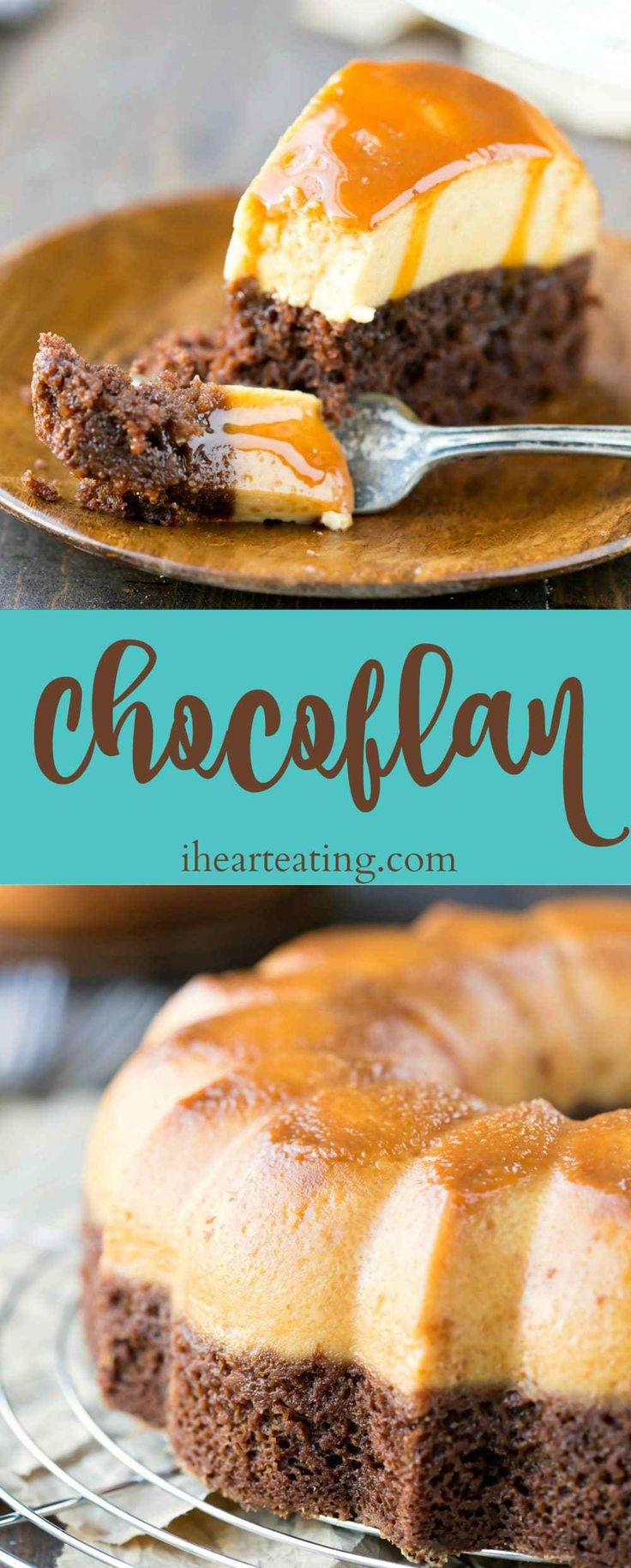 Chocoflan Recipe - part chocolate cake, part creamy flan. This is the perfect Cinco de Mayo dinner dessert!