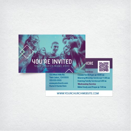 Mini Church Invite Card 3 5x2 You Re Invited Church Ideas