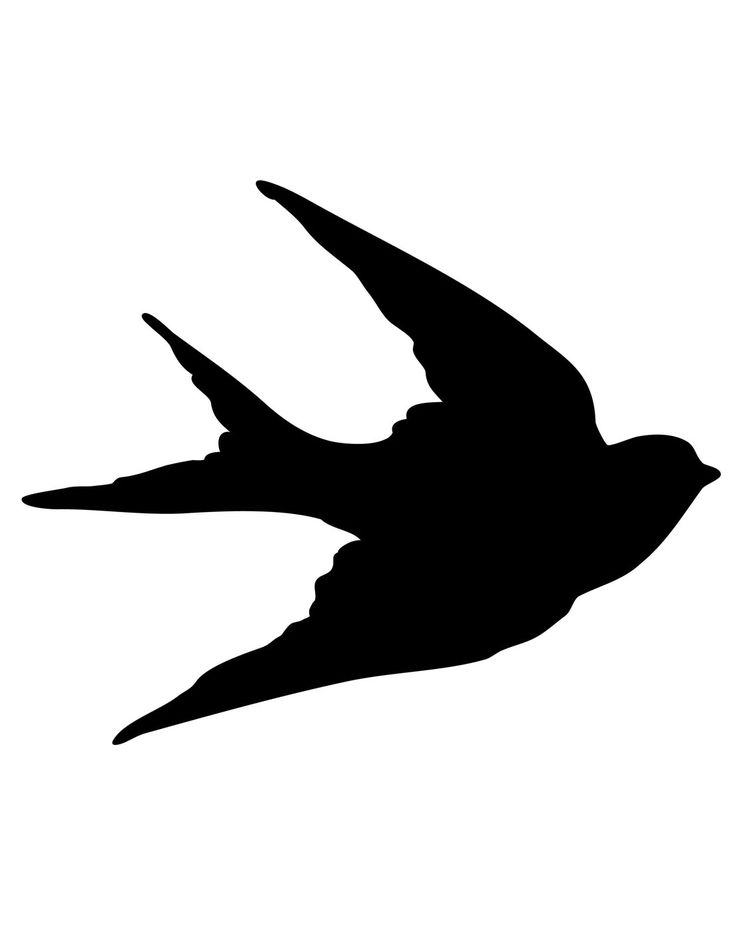 The Graphics Fairy - DIY: Transfer Printables - Bird Silhouettes - Swallows