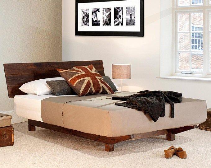 Industrial Reclaimed Wood Platform Storage Bed In 2020 Wooden
