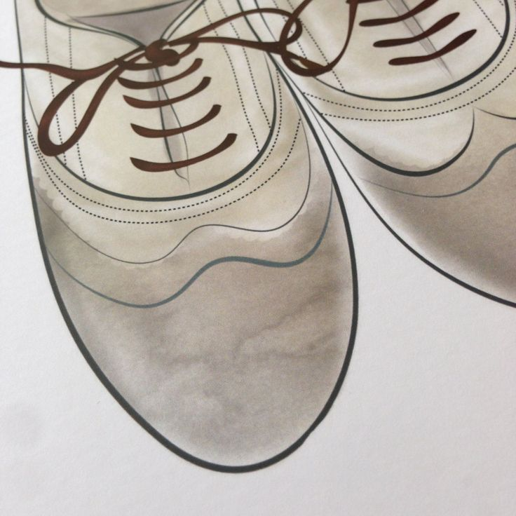 Lucky last - The Oxfords Print Oxford Shoe Wall Art Watercolour Shoe Art Show Love Watercolor by HandMeThatPencil on Etsy