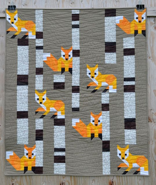 Fox among the Birches