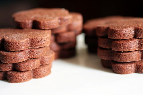 I will always love these cookies.  Brownie roll-out cookie-- Like a chocolate sugar cookie, only ten times better.