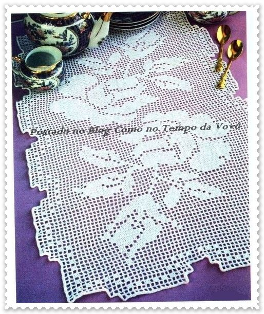 28 best camino de mesa, toallas largas images on Pinterest | Crochet ...