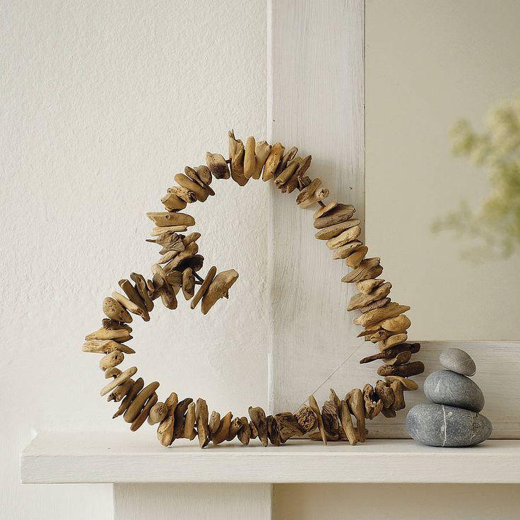 driftwood heart wreath by ella james | notonthehighstreet.com