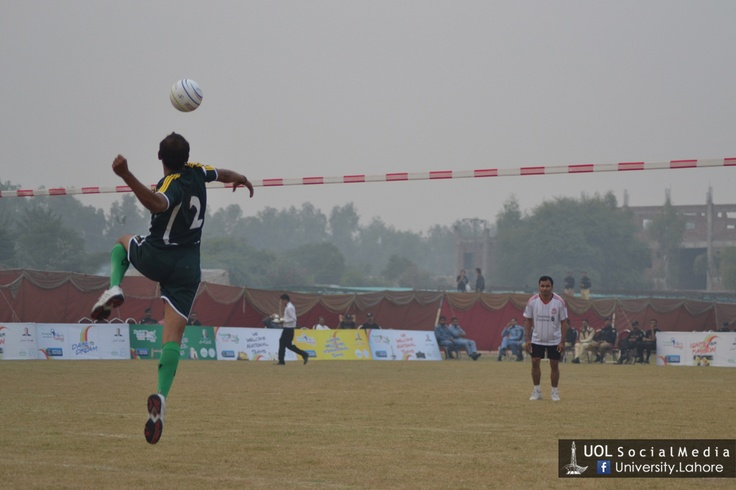 Fistball Final: Pakistan vs Nepal at The University of #Lahore. #Pakistan has won the match.
