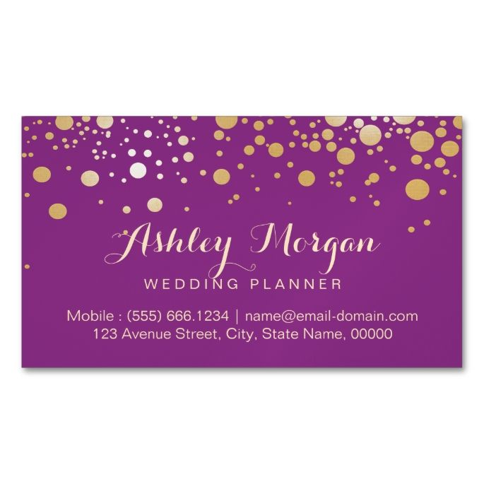 Glamour gold dots decor stylish violet purple magnetic business glamour gold dots decor stylish violet purple magnetic business cards pack of 25 i love this design it is available for customization or read junglespirit Gallery