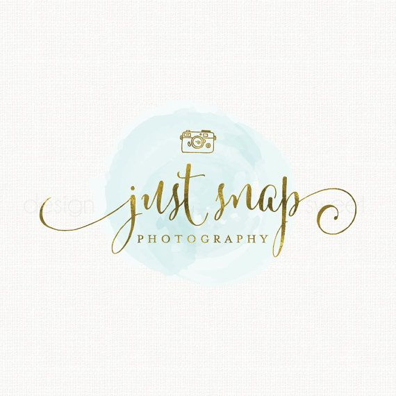 photography logo camera logo design gold by stylemesweetdesign