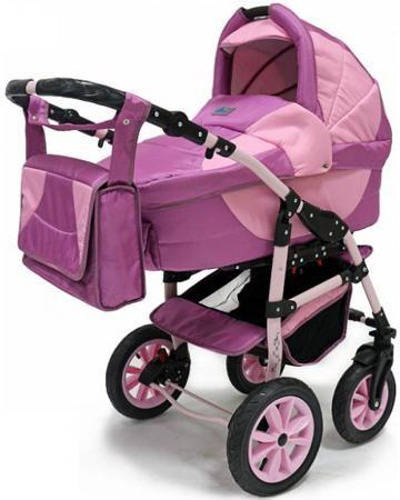 BartPlast 3 в 1 Serenade PCO F сиренево-розовая  — 16490р. ----- Коляска 3 в 1 BartPlast Serenade PCO F сиренево-розовая - универсальная модель для детей от рождения до 3 лет. Поставляется в виде набора, включающего шасси, люльку, прогулочный блок, автокресло 0 , сумку для мамы, дождевик и 2 накидки - для люльки и сиде...