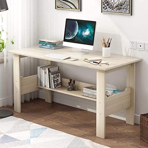 Chic Home Office Desk 40 Inch Modern Desktop Computer Desk Gaming Pc Laptop Desk Work Tabl In 2020 Wooden Computer Desks Simple Study Desk Home Office Furniture Desk